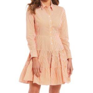 Pink/White long sleeve Gianni Bini dress